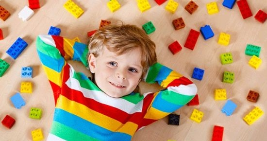 Child and Lego